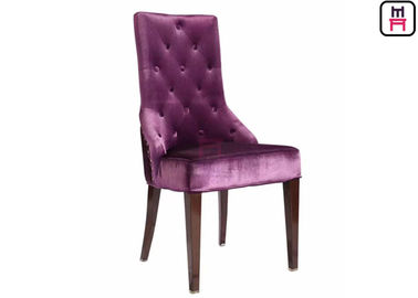 Wing Back Standard Banquet Chairs Button Decoration , Hotel Lobby Chairs Leather Seats